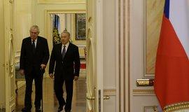 Miloš Zeman a Nursultan Nazarbajev