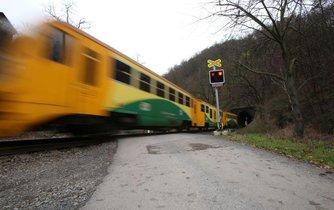 Železniční přejezd, ilustrační foto