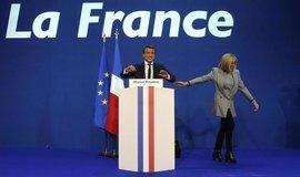 Emmanuel Macron a jeho žena Brigitte