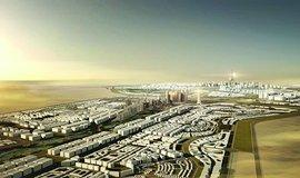 Zbožné přání. Počítačová vizualizace sebevědomého projektu nového egyptského hlavního města, jenž měl investory přijít na 300 miliard dolarů. Investoři jsou však neochotní: dosud má projekt přislíbeny pouhé tři miliardy.