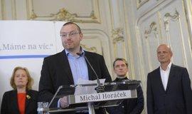 Kandidát na kancléře Michal Bláha, kterého by si na Hrad vzal Michal Horáček (vpravo)