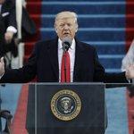 Donald Trump při svém prvním prezidentském projevu