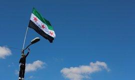 Demonstrace v syrském Idlibu