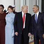Michelle Obamová, Melanie Trumpová, Donald Trump a Barack Obama