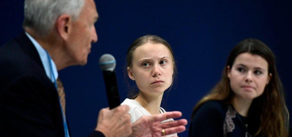 Mladí klimatičtí aktivisté na summitu v Madridu, ilustrační foto