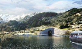 Vizualizace norského námořního tunelu