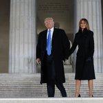 Donald Trump se svou manželkou Melanií dorazil v předvečer své inaugurace na koncert svých příznivců u Lincolnova památníku