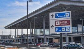 Hlavní terminál nedokončeného berlínského letiště v březnu 2019.