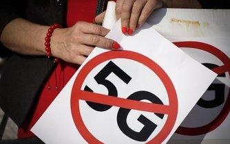Protest proti výstavbě sítě 5G, ilustrační foto