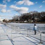 Přípravy na Trumpovu inauguraci v parku National Mall nedaleko Kapitolu USA