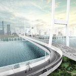 """Proč stát v zácpě? Projekt BMW Vision E³ Way pro velká města počítá s """"hyperloopem"""" pro kola."""