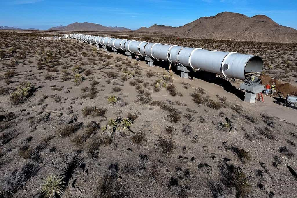 Testovací dráha Hyperloop One v americkém státě Nevada