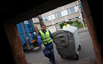 Svoz komunálního odpadu - ilustrační foto