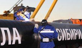 Plynovod Gazpromu - ilustrační foto