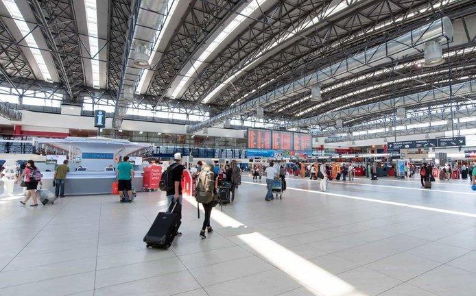 Jeden z terminálů na Letišti Václava Havla Praha