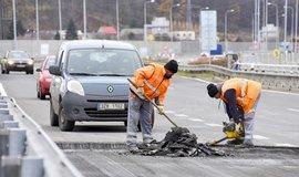 Práce na silnici - ilustrační foto