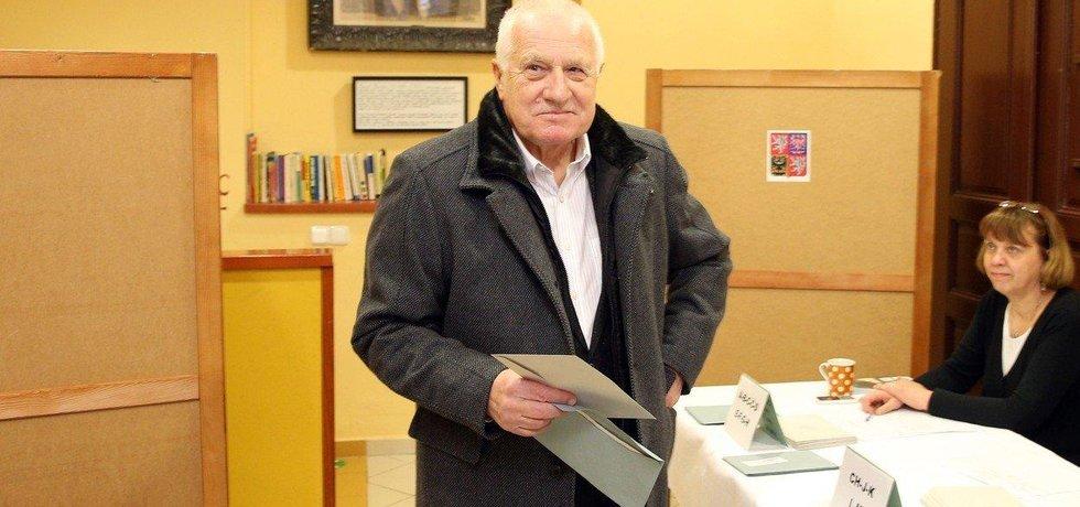 Václav Klaus u prezidentských voleb