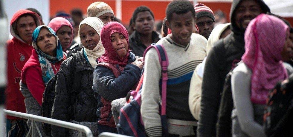Uprchlíci v Itálii, ilustrační foto