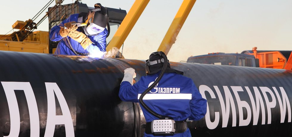 První svar plynovodu společnosti Gazprom, ilustrační foto