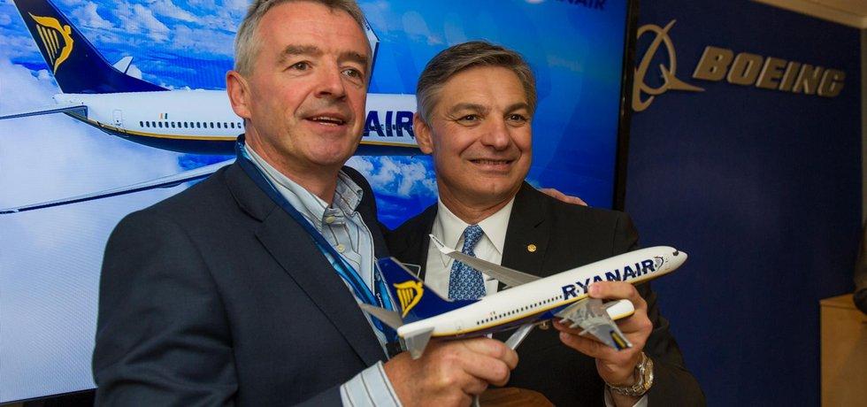 Šéf Ryanairu Michael O´Leary potvrdil březnovou objednávku na 175 Boeingů 737