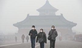 Smog v Pekingu (Zdroj: ČTK)