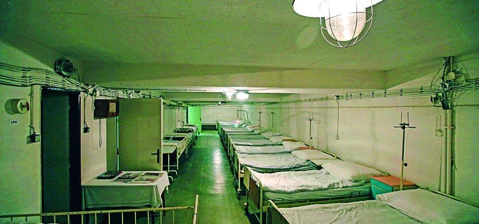 Podzemní nemocni má kapacitu 72 lůžek