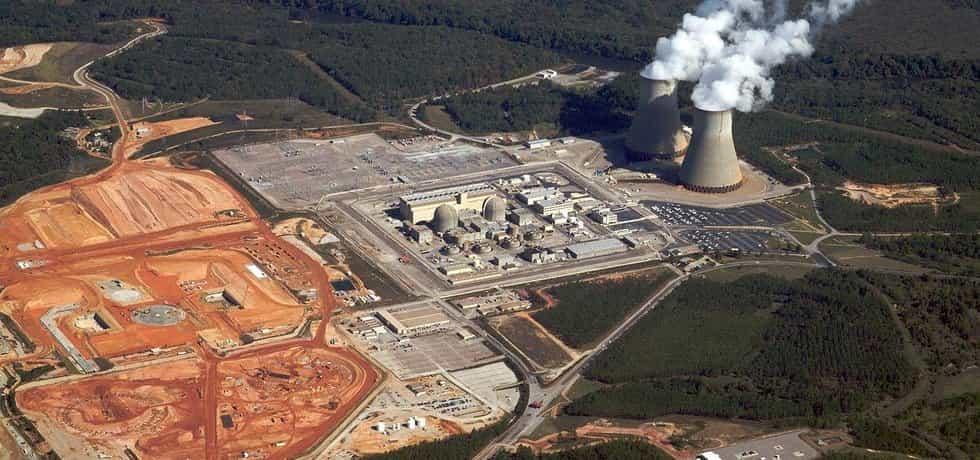Jaderná elektrárna Plant Vogtle s reaktory Westinghouse v americkém státě Georgia