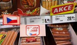 Uzeniny v českém supermarketu, ilustrační foto