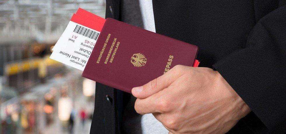 Německý pas, ilustrační foto