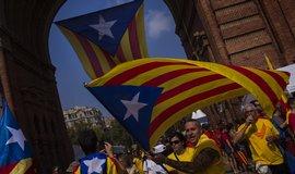 Katalánci volají po nezávislosti (foto z protestů v září 2014)