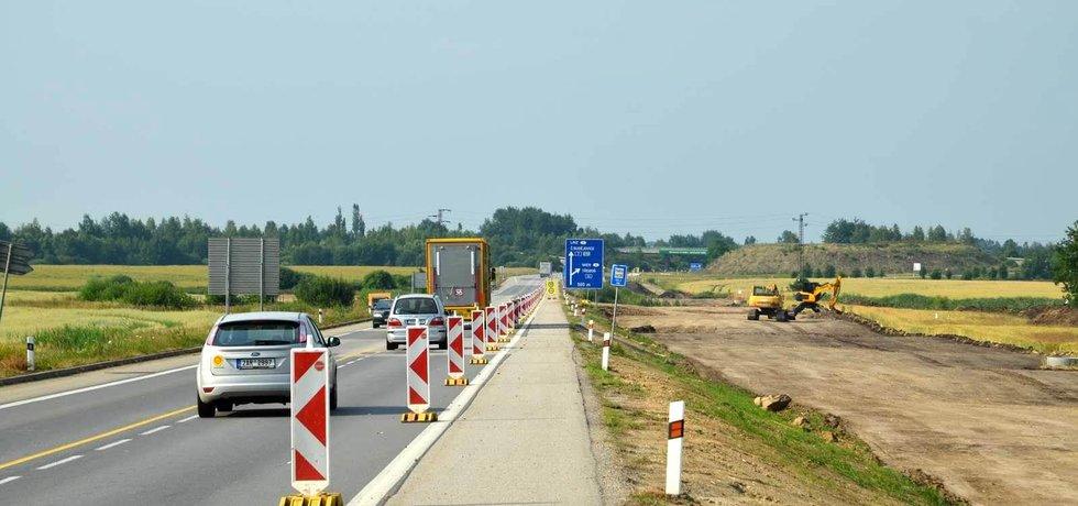 Stavba dálnice D3 v úseku Veselí nad Lužnicí - Bošilec