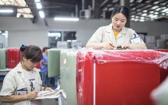 Prodej lednic v Číně, ilustrační foto
