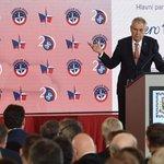 Prezident Miloš Zeman vystoupil 12. března 2019 ve Španělském sále Pražského hradu na bezpečnostní konferenci konané u příležitosti 20. výročí vstupu České republiky do NATO s podtitulem Naše bezpečnost není samozřejmost.