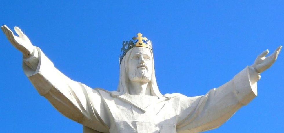 Socha Ježíše krále ve městě Swiebodzin. Jedná se o nejvyšší sochu Ježíše Krista na světě.