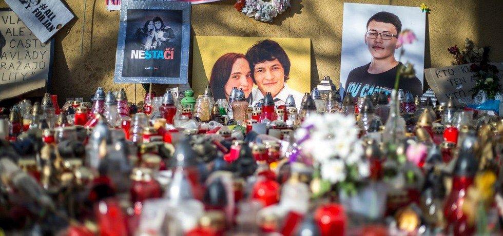 Vzpomínka na zavražděného Jána Kuciaka a jeho partnerku