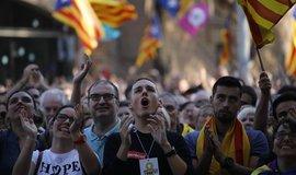 Demonstrace v Katalánsku na podporu nezávislosti