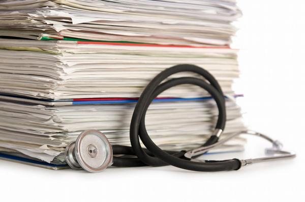 dokumenty, dokumentace, stetoskop