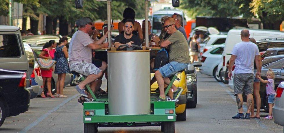 Pivní kolo v centru Prahy