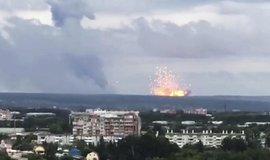 Havárie ruské rakety