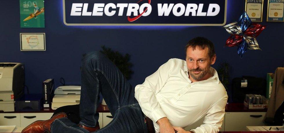 Jednatel řetězce Electro World Roman Kocourek