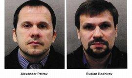 Alexander Petrov a Ruslan Boširov, podezřelí z přípravy útoku na Skripala a jeho dceru