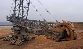 Těžba hnědého uhlí - ilustrační foto