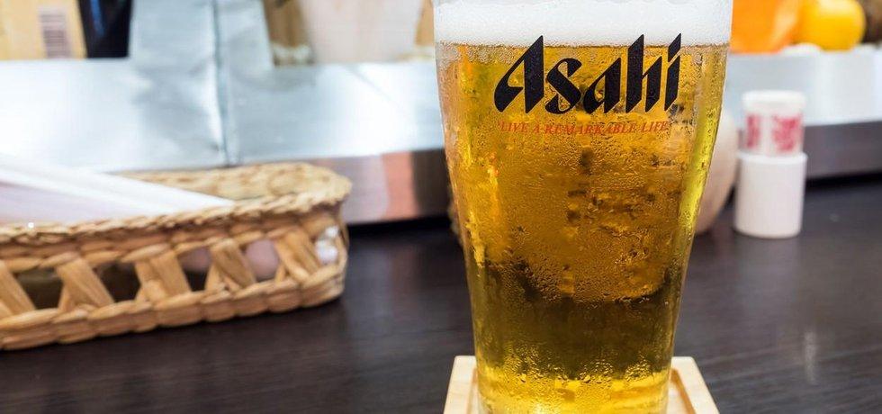 Japonské pivo Asahi