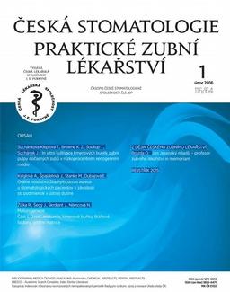 Obálka Česká stomatologie a Praktické zubní lékařství