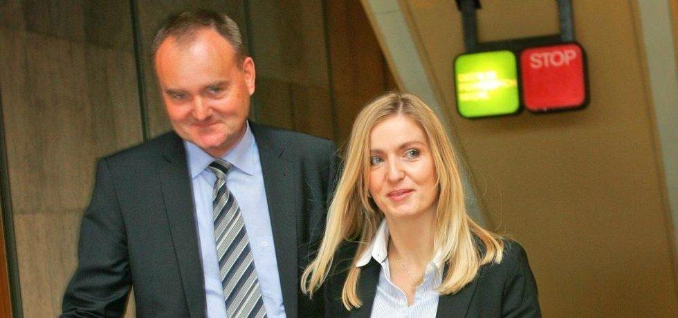 Bývalý velvyslanec ve Švýcarsku Karel Borůvka s manželkou Alenou.