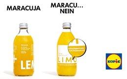 Originál Lemonaid a kopie z Lidlu.