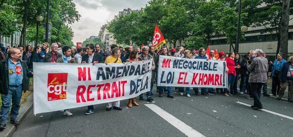 Levicoví demonstranti a odboráři ve Francii