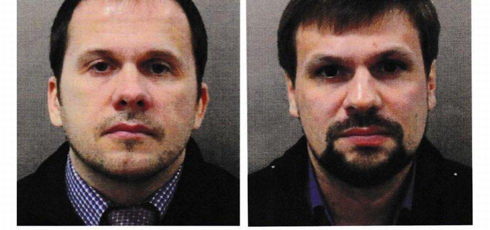 Alexander Petrov a Ruslan Boširov, podezřelí z přípravy útoku na Skripalov