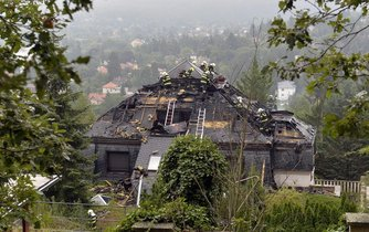 Požár někdejší Krejčířovy vily způsobil škodu za přibližně pět milionů korun