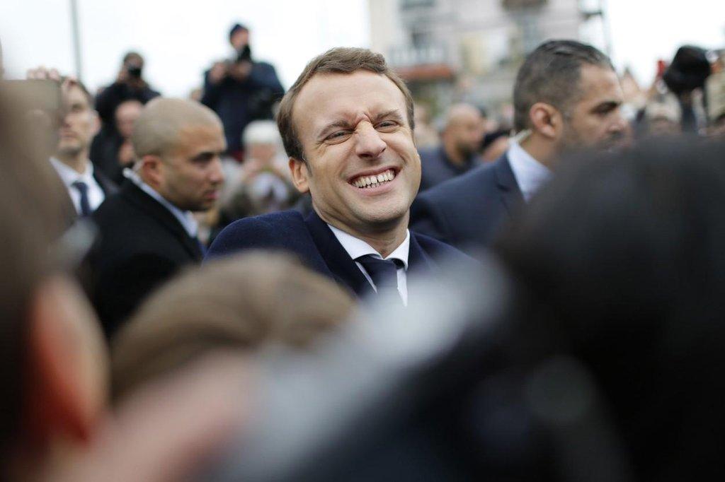Francouzský prezidentský kandidát Emmanuel Macron